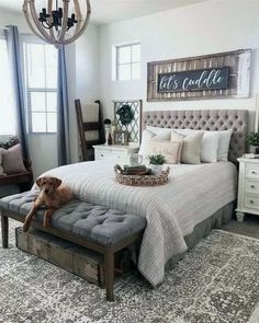 27 Beautiful Modern Farmhouse Bedroom Design Ideas And Decor. If you are looking for Modern Farmhouse Bedroom Design Ideas And Decor, You come to the right place. Below are the Modern Farmhouse Bedro. Modern Farmhouse Bedroom, Farmhouse Master Bedroom, Farmhouse Style Kitchen, Master Bedroom Design, Home Decor Bedroom, Living Room Decor, Farmhouse Decor, Bedroom Modern, Bedroom Designs