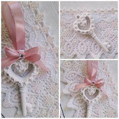segnaposto -bomboniera gessetto chiave con fiorellini  #segnaposto #nozze #matrimonio  http://www.misshobby.com/it/negozi/il-papavero-blu