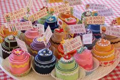 Felt Cake Place Card Holders