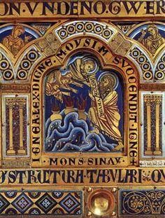 Moses on Mount Sinai - Nicholas of Verdun