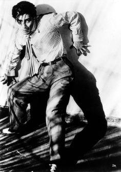 Toshiro Mifune in Akira Kurosawa's Drunken Angel (1948).