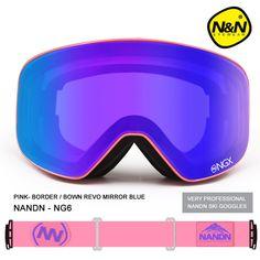 Nueva nandn marca uv400 gafas de esquí gafas de esquí doble lente anti-vaho para adultos gafas de esquí snowboard de las mujeres de los hombres de nieve gafas