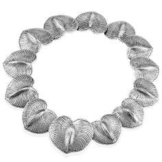 Eucalyptus Leaves Necklace : Gogo Jewelry #Silver #Jewelry