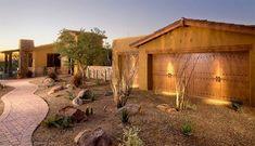 Xeriscape in Tucson. Desert Backyard, Backyard Plants, Backyard Landscaping, Landscaping Ideas, Patio Ideas, Tucson, Arizona, Rock Garden Design, Desert Design