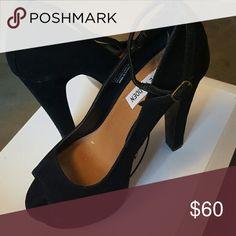 Shoes Black Steve Madden 6 inch wedges,great condition worn twice only. Steve Madden Shoes Wedges