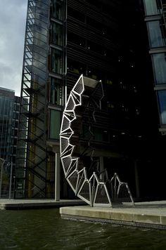 Rolling Bridge by Heatherwick Architecture Studio, Paddington Basin, London
