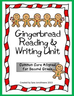 Gingerbread Man Reading and Writing Mini Unit - Common Core Aligned for Second Grade perfect for reading and comparing different versions of the Gingerbread Man and writing a new version. Includes lesson plan ideas, book suggestions, rubric, student checklists, 8 graphic organizers and 6 types of writing paper. $ 1st Grade Books, 2nd Grade Class, Second Grade, Mini Reading, Book Suggestions, Writing Paper, Graphic Organizers, Writing Activities, Rubrics