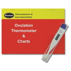 Easy to use digital ovulation thermometer complete with instructions and recording charts for daily readings. This clincal ovulation thermometer comes complete with battery included.