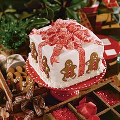 Cover Cakes of Christmas Past | Gift Box Cake | SouthernLiving.com