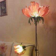 Room Ideas Bedroom, Bedroom Decor, Fairy Room, Flower Lamp, Flower Lights, Flower Pendant, Lampe Decoration, Deco Originale, Fairy Lamp