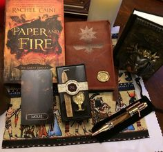 http://gvwy.io/i3fw3ie PAPER giveaway for Paper and Fire release!   Includes:  3D artist-created HORUS JOURNAL  Custom Great Library journal  Signed Paper and Fire  Set of Great Library tarot cards  Eye of Horus wax seal kit  Artist-created steampunk pen