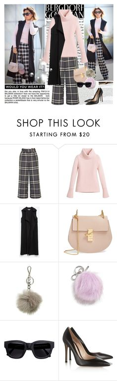 """""""Street style"""" by polyandrea ❤ liked on Polyvore featuring Stop Staring!, H&M, Topshop, White House Black Market, Zara, Chloé, MICHAEL Michael Kors, Halogen, Acne Studios and Gianvito Rossi"""