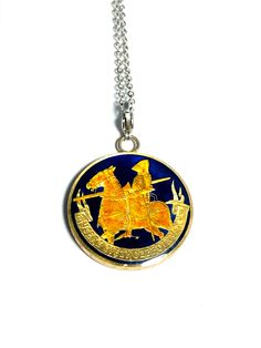 Mail Sign, Coin Pendant, 15th Century, Poland, Knight, Coins, Cufflinks, Arms, Enamel