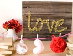 DIY String Wall Art (could use recycled wood)