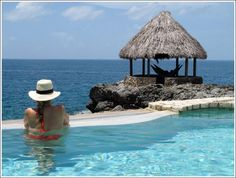 Lovely weather and view at Tensing Pen #Resort #Negril #Jamaica #pools #gazebos…