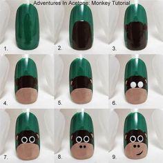 Monkey Nail Art Tutorial