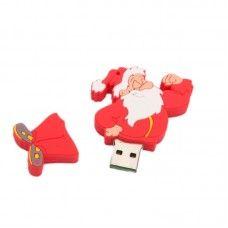 16GB Complacent Santa Claus Cartoon USB Flash Drive