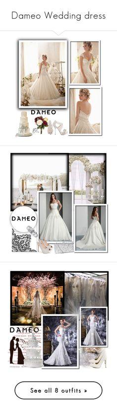 """Dameo Wedding dress"" by newoutfit ❤ liked on Polyvore featuring Herz, Bling Jewelry, Allurez, David Tutera, OKA, women's clothing, women's fashion, women, female and woman"
