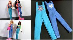 Como Fazer Macacão para Barbie Sem Costura ou Com Costura