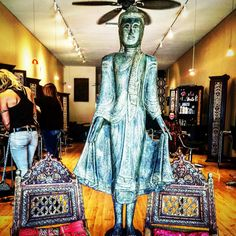 """The coolest #hair salon in #Southbay. Dig it. """"Every block of stone has a statue inside it and it is the task of the #sculptor to #landscape it."""" ~Michelangelo #quoteoftheday #creation #instagood #art #interiordesign #design"""