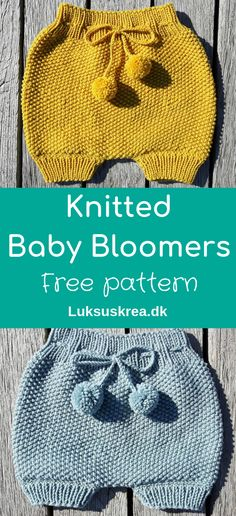 Free knitting pattern for knitted baby bloomers / knitted baby shorts / knitted . : Free knitting pattern for knitted baby bloomers / knitted baby shorts / knitted … – Baby Shorts, Crochet Baby Pants, Knit Baby Shoes, Knit Baby Dress, Knitted Baby Clothes, Knitted Baby Romper, Knit For Baby, Baby Booties, Baby Romper Pattern Free