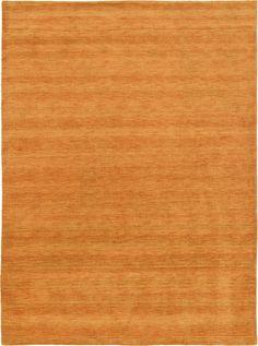 Orange 8' 2 x 11' 6 Solid Gabbeh Rug | Oriental Rugs | eSaleRugs