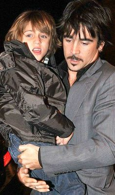 Colin Farrell and son James
