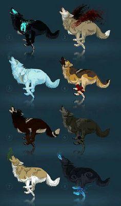Mystical Animals, Mythical Creatures Art, Magical Creatures, Animal Sketches, Animal Drawings, Cute Drawings, Fantasy Wolf, Fantasy Art, Wolf Artwork
