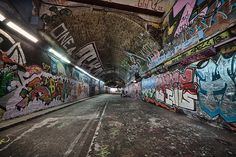 London-Leake-Street Graffiti Tunnel-Banksy Tunnel-London Underground-London Pass-Untapped Cities