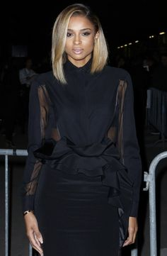 A long bob is good for the girl who needs to take baby steps in making the big chop. Ciara's long bob is great from framing the face; allows enough length to still pull off updo's; and looks great both straight and curled in locks.via styleblazer.com