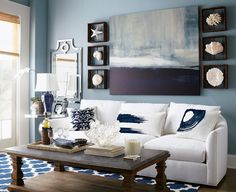 Blue and white interior - Interior blanco y azul