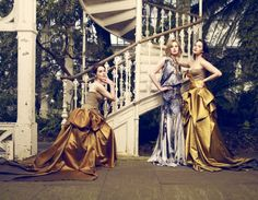 Michelle Dockery Laura Carmichael and Jessica Brown-Findlay by Jason Bell for Vogue UK August 2011