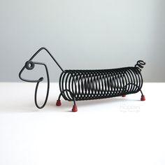 Robert Dietz Dachshund Dog Black Wire Letter Holder on A La Modern Wire Letters, Letter Holder, Dachshund Dog, Pen Holders, Organization, Lettering, Dogs, Modern, Shop