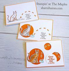 cartes stampin up nine lives Animal Mashups, Nine Lives, Paper Craft Supplies, Dog Cards, Stamping Up Cards, Animal Cards, Card Maker, I Card, Cardmaking