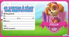 Invitation anniversaire Stella de Pat Patrouille