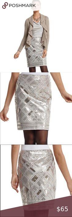 New White Metallic Silver Leopard Skater Skirt Party  Rock Retro Disco Dance