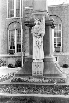 Confederate Women Monument - Encyclopedia of Arkansas (Ouachita County Courthouse, Camden, AR) #AETN #BeMore