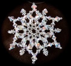 Beading Tutorial, Crystal Snowflake Ornament Tutorial (JDC030). $10.00, via Etsy.