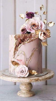 Elegant Birthday Cakes, Pretty Birthday Cakes, Birthday Cake Girls, Pretty Cakes, Cute Cakes, Frozen Birthday, Crazy Cakes, Beautiful Wedding Cakes, Beautiful Cakes