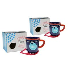 Topchoice Stonenamel Mug with Felt Coaster Set Color: Navy