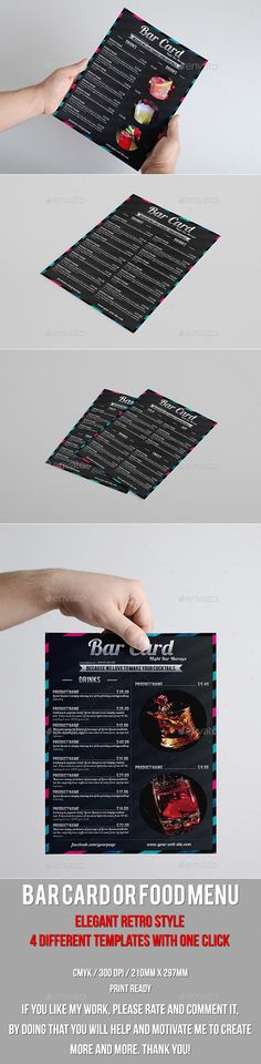 Multipurpose Retro Style Bar Card Template #design Download: http://graphicriver.net/item/multipurpose-retro-style-bar-card/10229121?ref=ksioks
