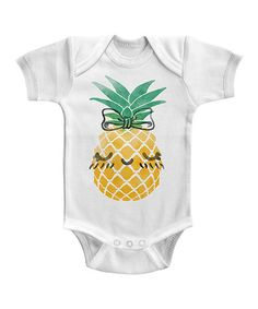 Look what I found on #zulily! White Pineapple Bodysuit - Infant #zulilyfinds