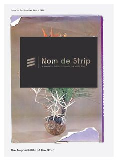 Nom de Strip A free journal dedicated to expanding contemporary arts audiences in the south-west.