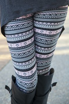 Leggings | White Plum