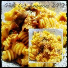 Pasta with Tuna!  http://www.svolazzi.it/2012/12/pasta-al-tonno.html  Have a nice day!