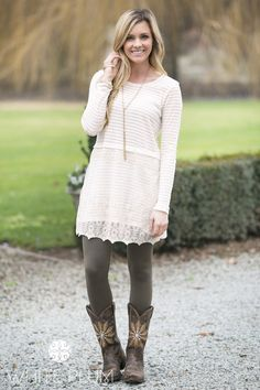 Antoinette Lace Tunic Grey Tights, White Skinnies, Grace And Lace, Fashion Tights, Lace Tunic, Outfit Ideas, Cute Outfits, My Style, Colors