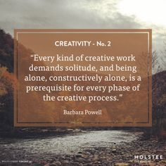 How does time alone help fuel your #creativity?