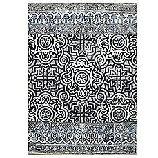 image of Eva Tufted Wool Rugs in Indigo Multi