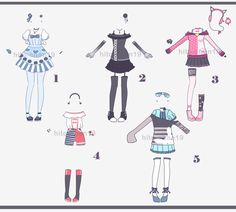 Outfit batch 13 CLOSED - Auction by hito-chan19.deviantart.com on @DeviantArt