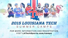 Looking for ways to keep your kids active this summer? Check out all of the sport summer camps Louisiana Tech is hosting this summer! Click here for more details on the camps www.latechsports.com/camps. #WeAreLATech